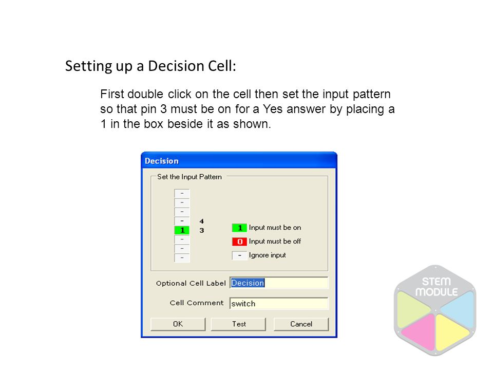 Setting up a Decision Cell: