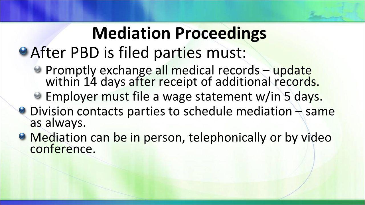 Mediation Proceedings