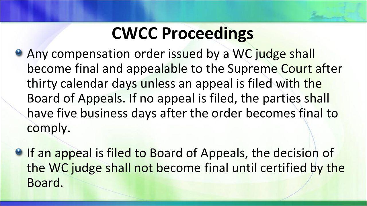 CWCC Proceedings