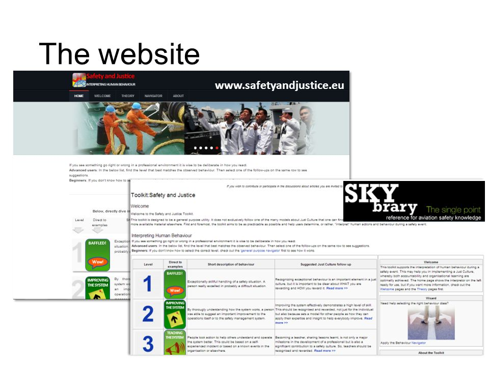 The website www.safetyandjustice.eu