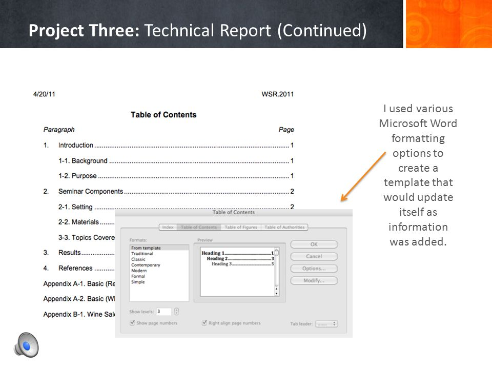 Project Three: Technical Report (Continued)