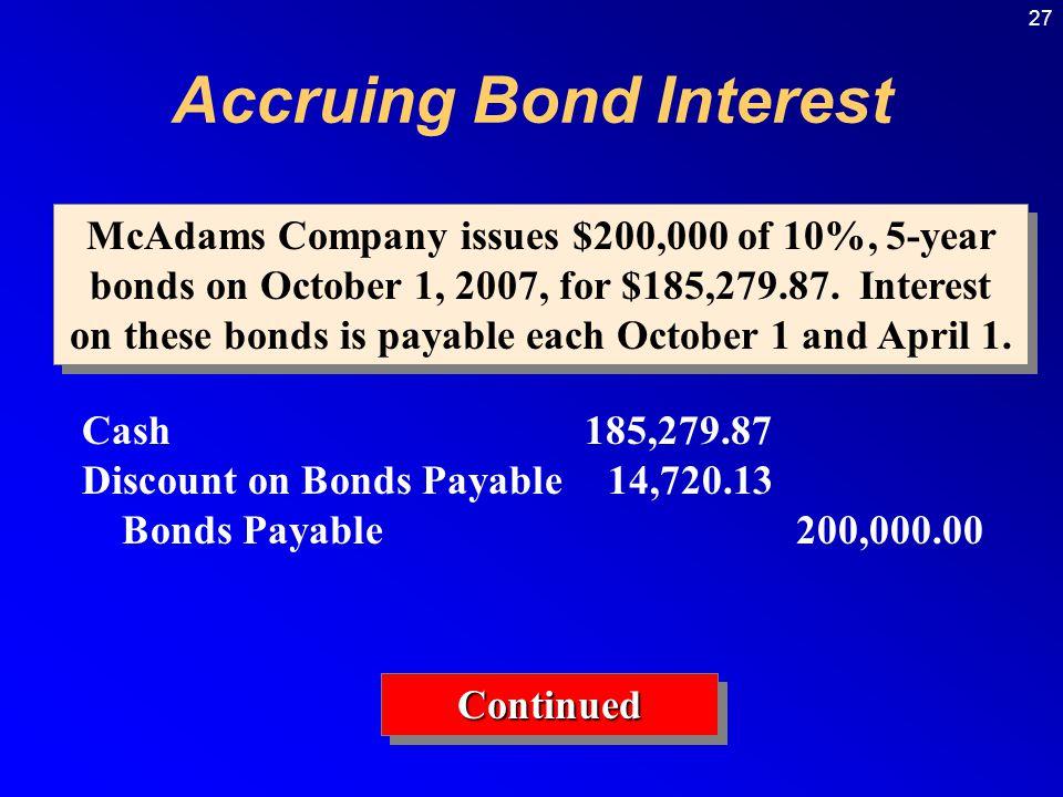 Accruing Bond Interest