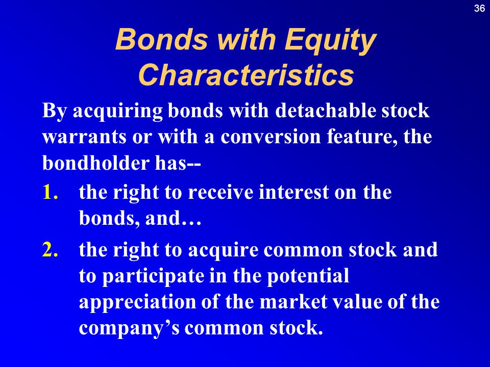 Bonds with Equity Characteristics