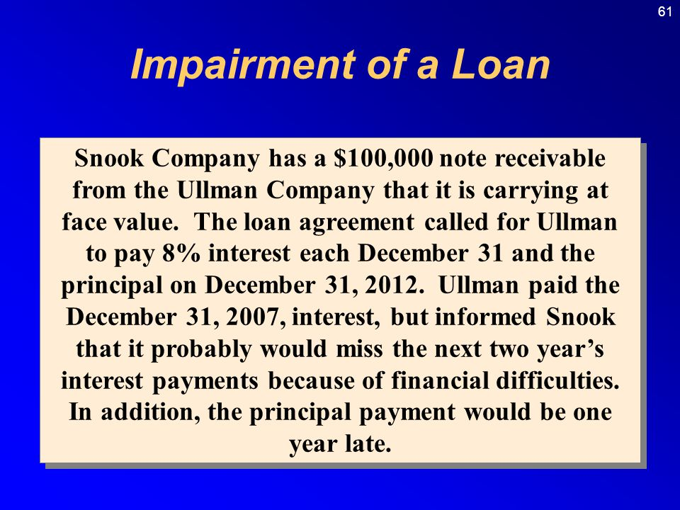 loan impairment The allowance for loan losses for banks (fig) - duration: 22:18 mergers & inquisitions / breaking into wall street 9,831 views.