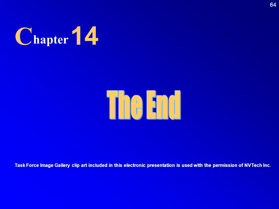 C 14. hapter. The End.