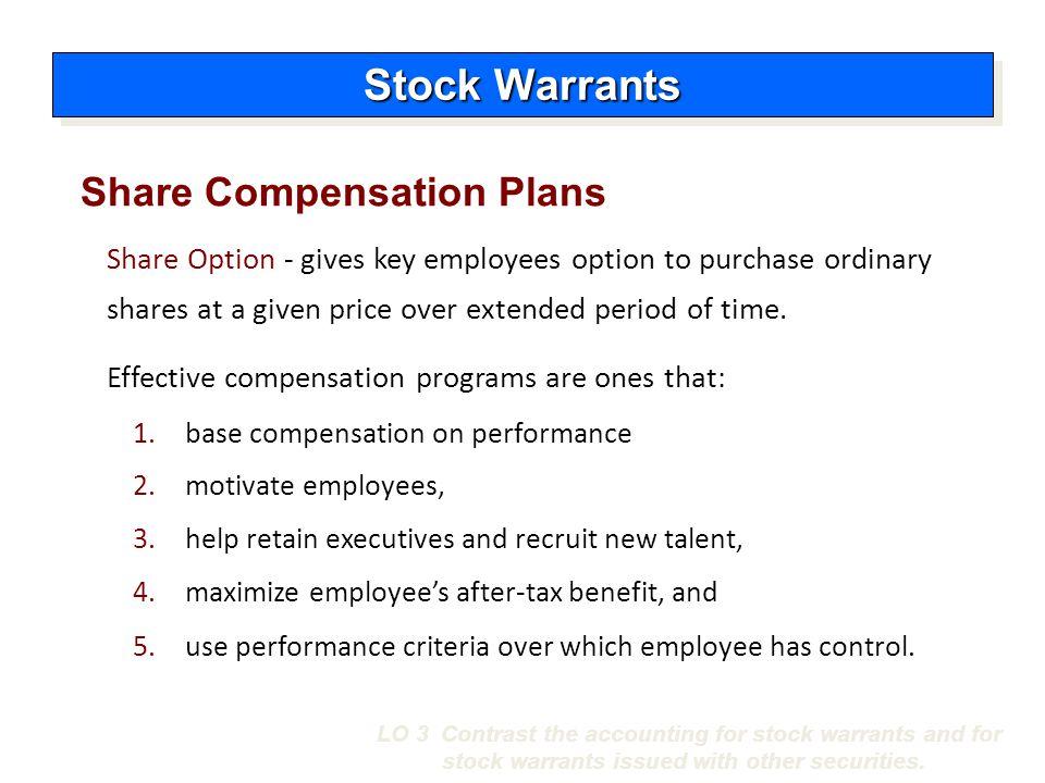 Warrants employee stock options