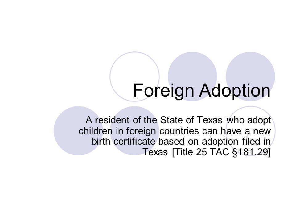 Foreign Adoption