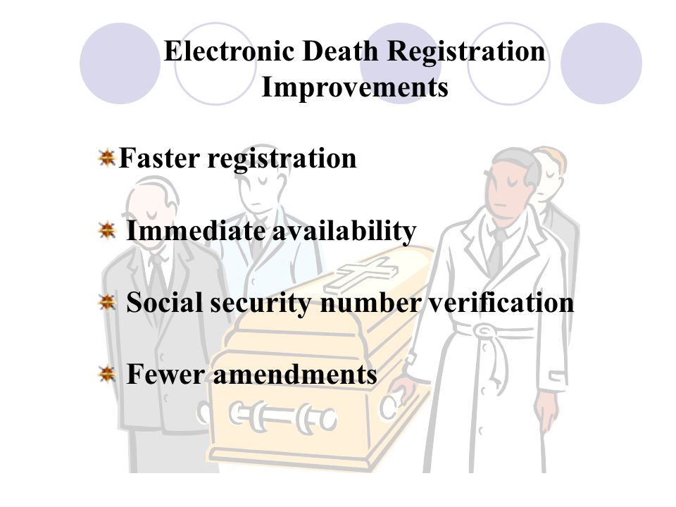 Electronic Death Registration Improvements