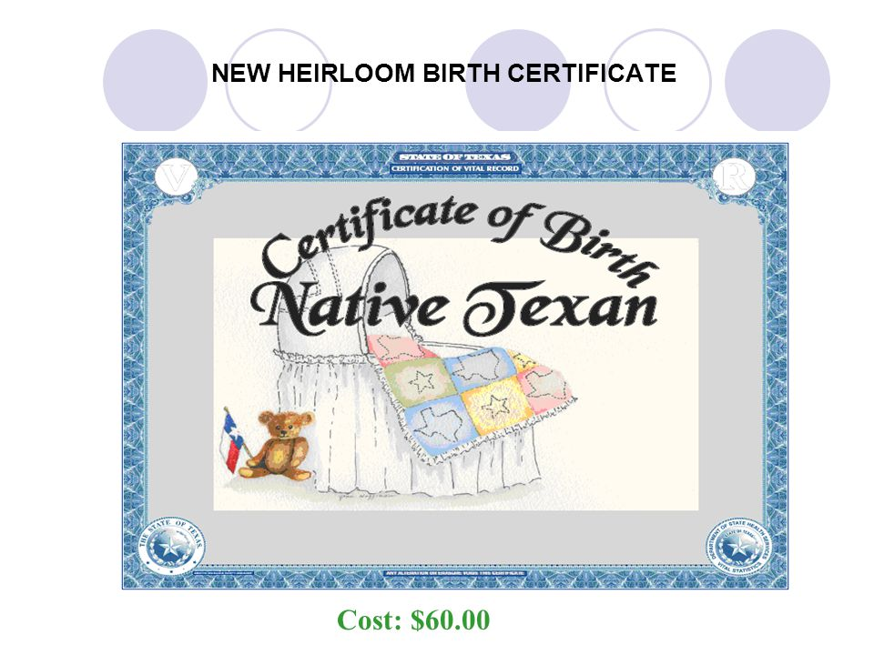 NEW HEIRLOOM BIRTH CERTIFICATE