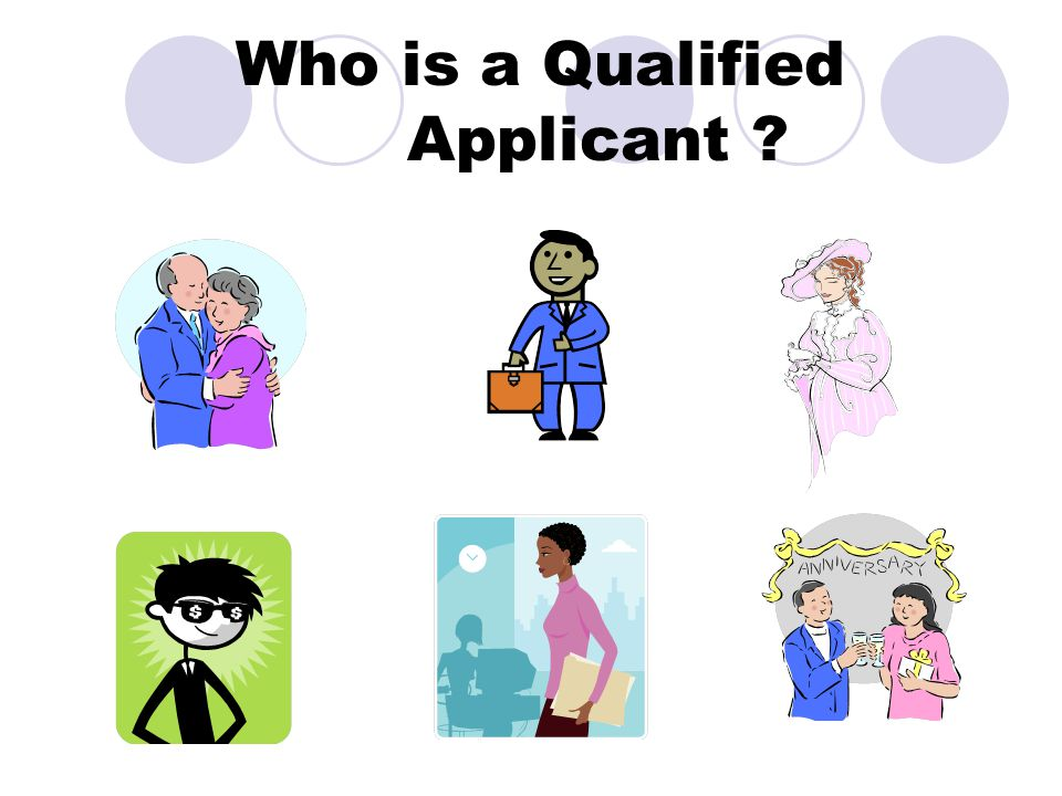 Who is a Qualified Applicant