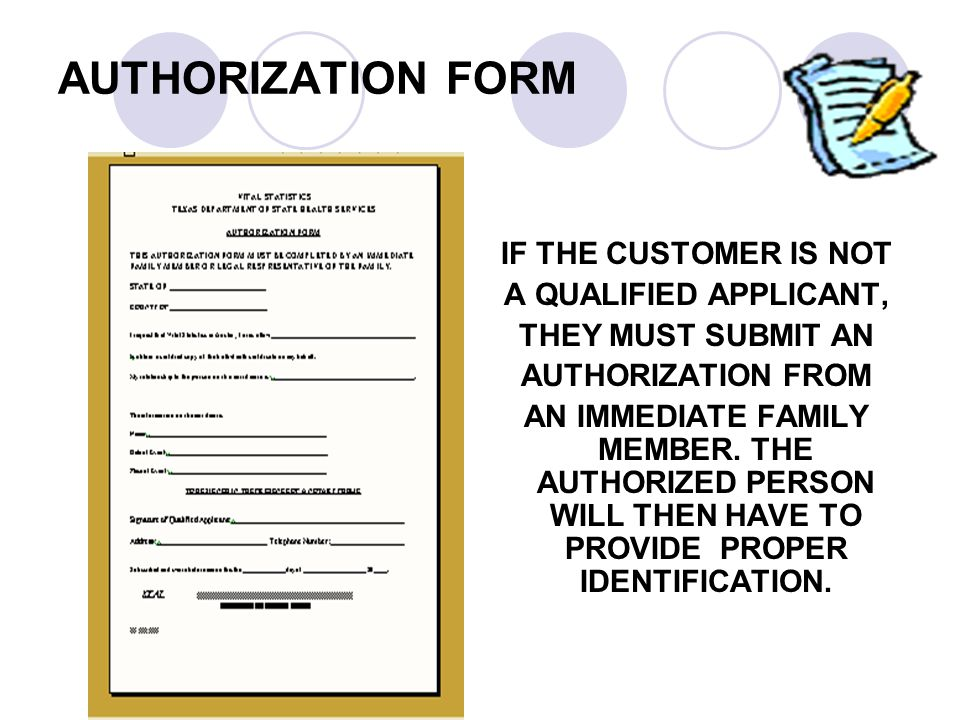 AUTHORIZATION FORM IF THE CUSTOMER IS NOT A QUALIFIED APPLICANT,