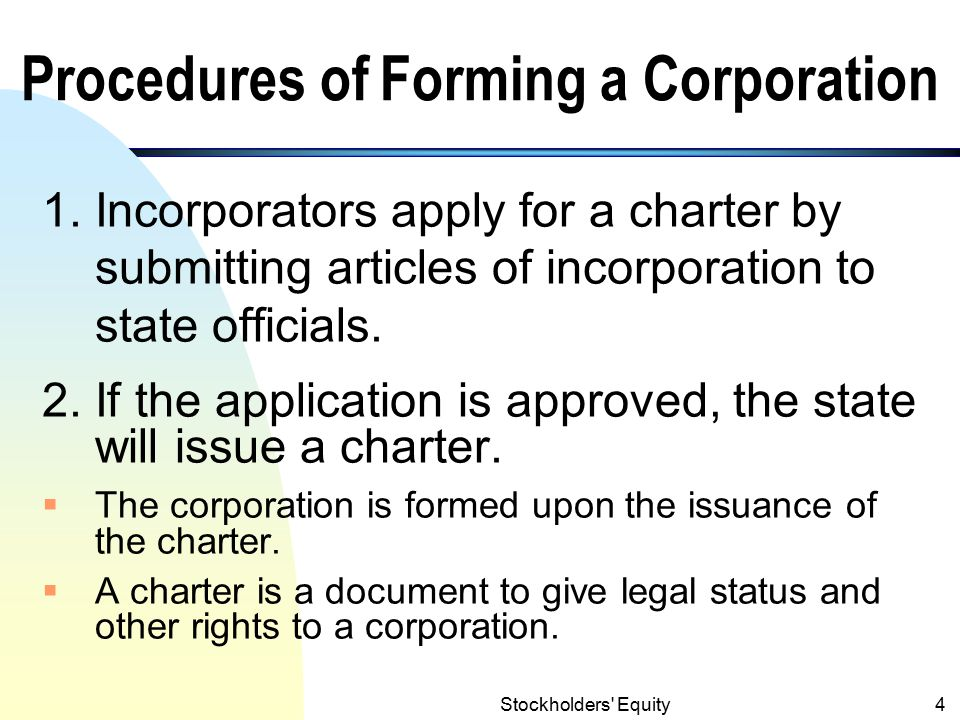 Procedures of Forming a Corporation