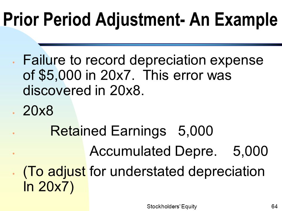 Prior Period Adjustment- An Example