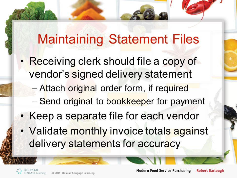 Maintaining Statement Files