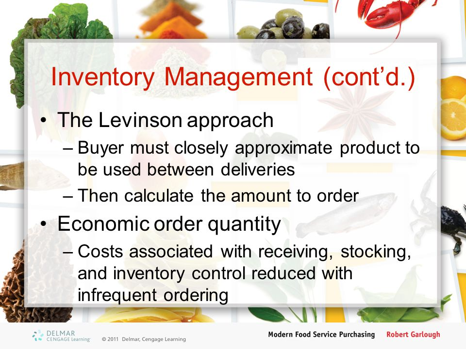Inventory Management (cont'd.)