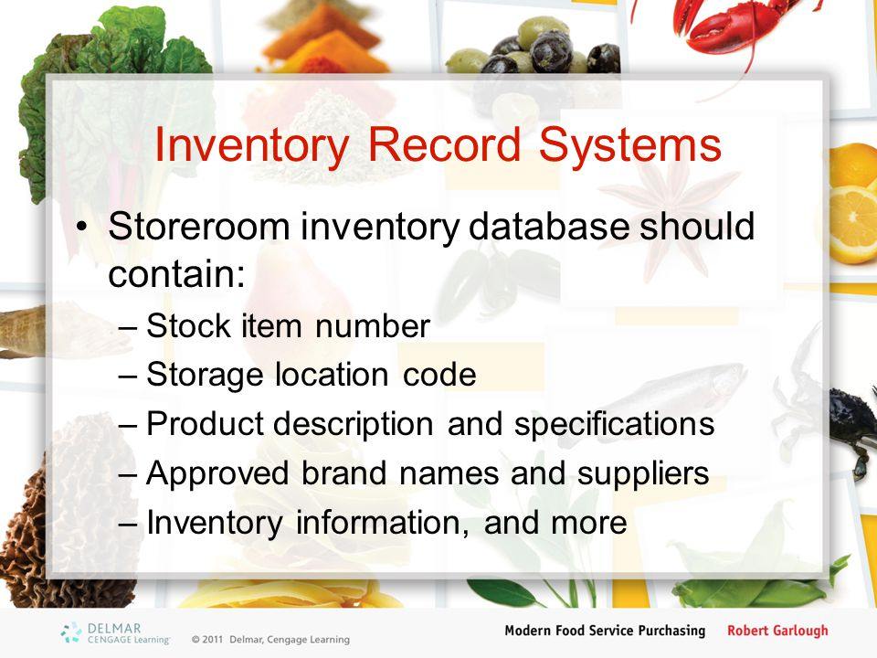 Inventory Record Systems