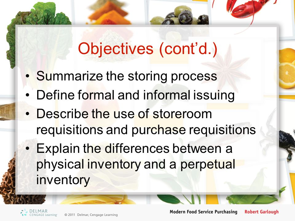 Objectives (cont'd.) Summarize the storing process