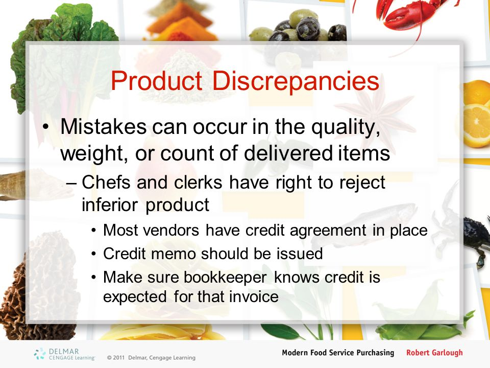 Product Discrepancies