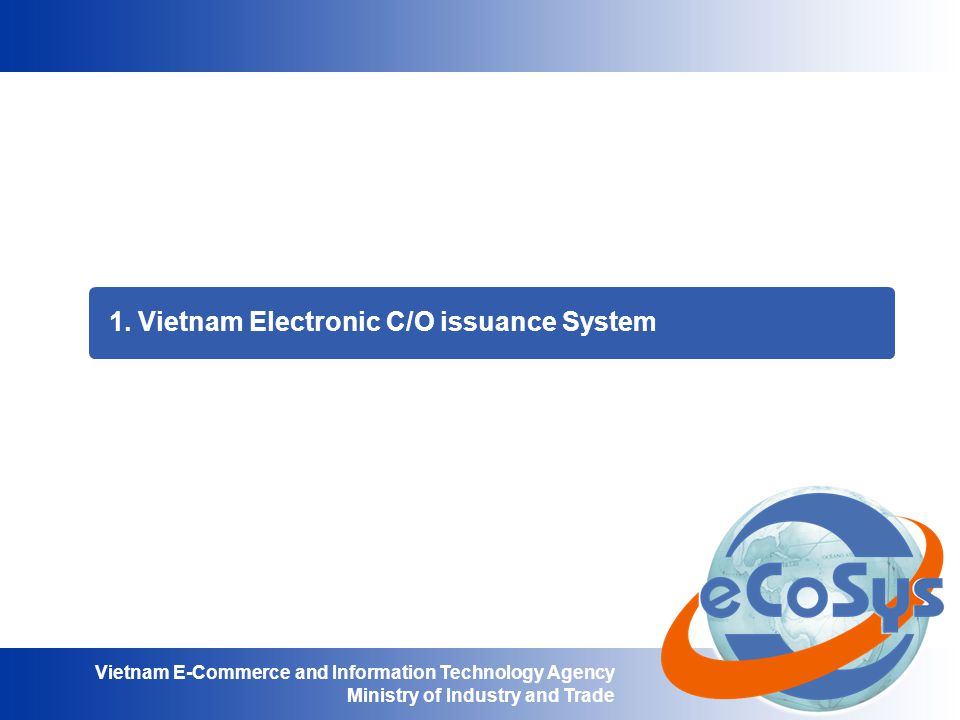 1. Vietnam Electronic C/O issuance System