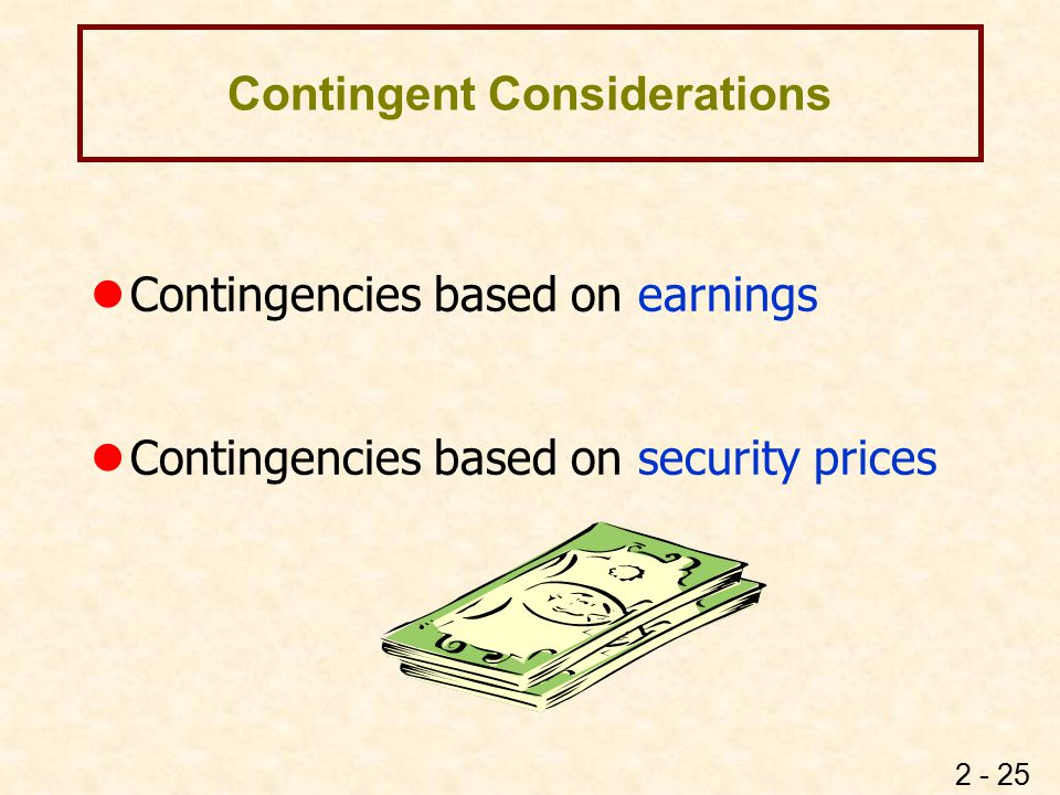 Earnings Contingency Definition Accounting Treatment