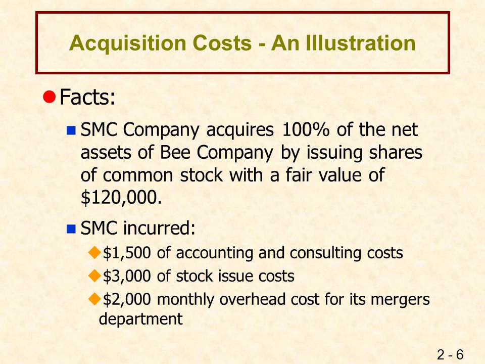 Acquisition Costs - An Illustration