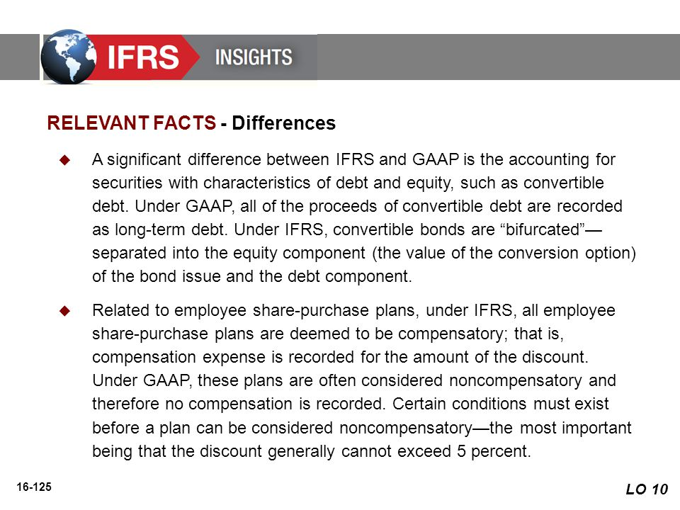 RELEVANT FACTS - Differences
