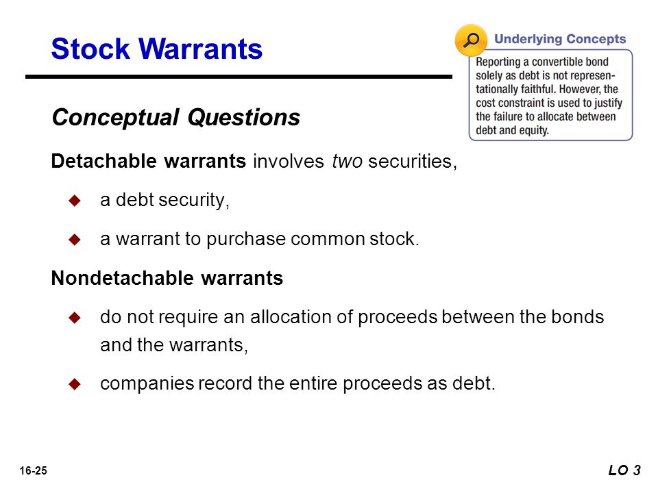 Stock Warrants Conceptual Questions