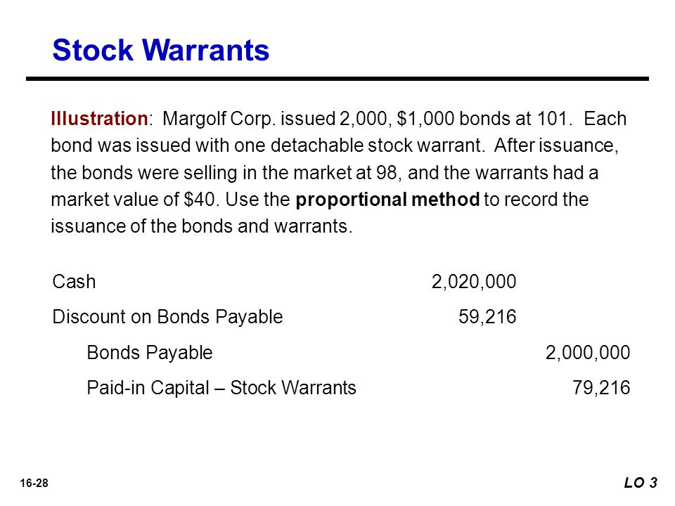 Stock Warrants