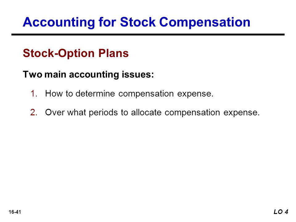 Accounting for stock options us gaap