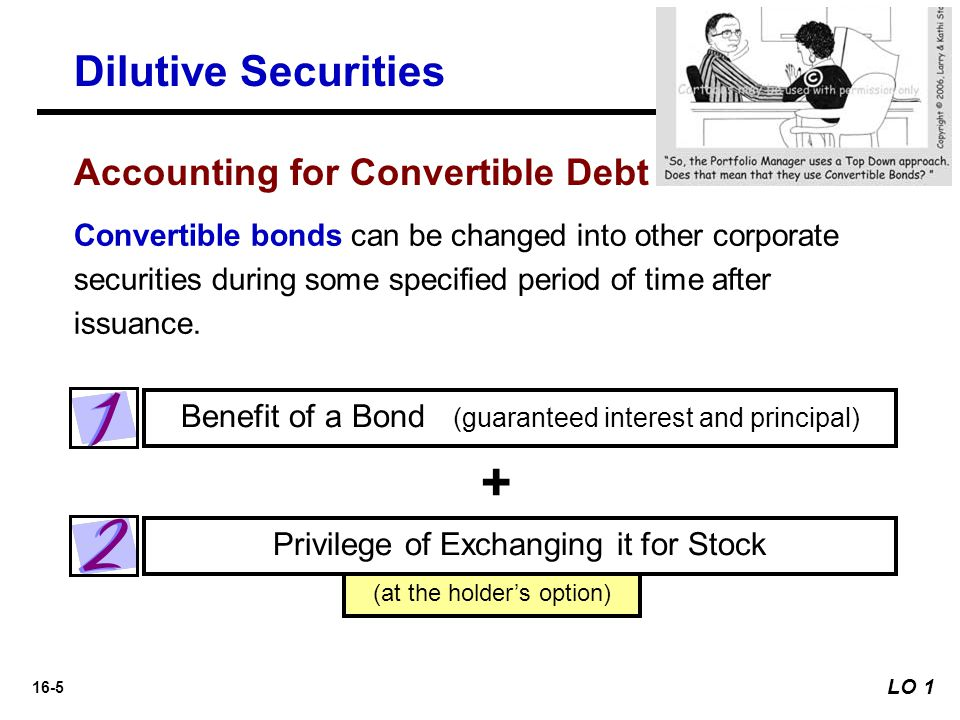 + Dilutive Securities Accounting for Convertible Debt