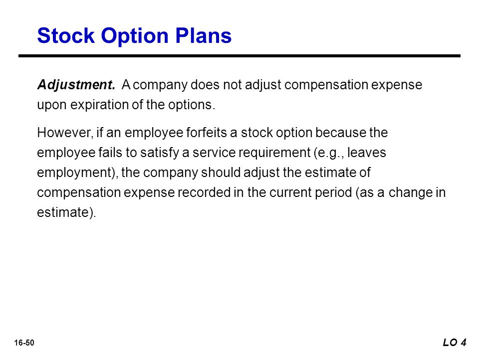 Stock options leaving company