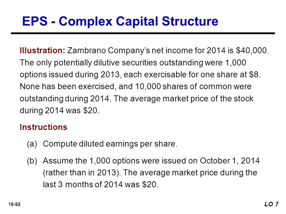 EPS - Complex Capital Structure