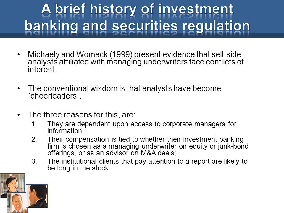 A brief history of investment banking and securities regulation