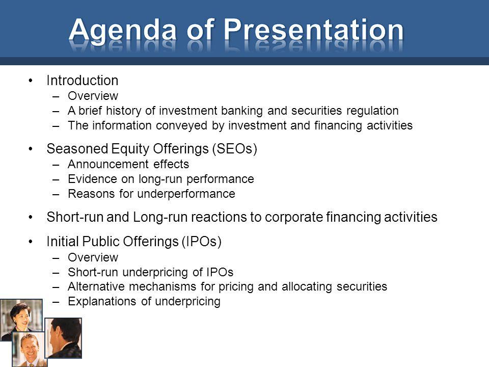 Agenda of Presentation