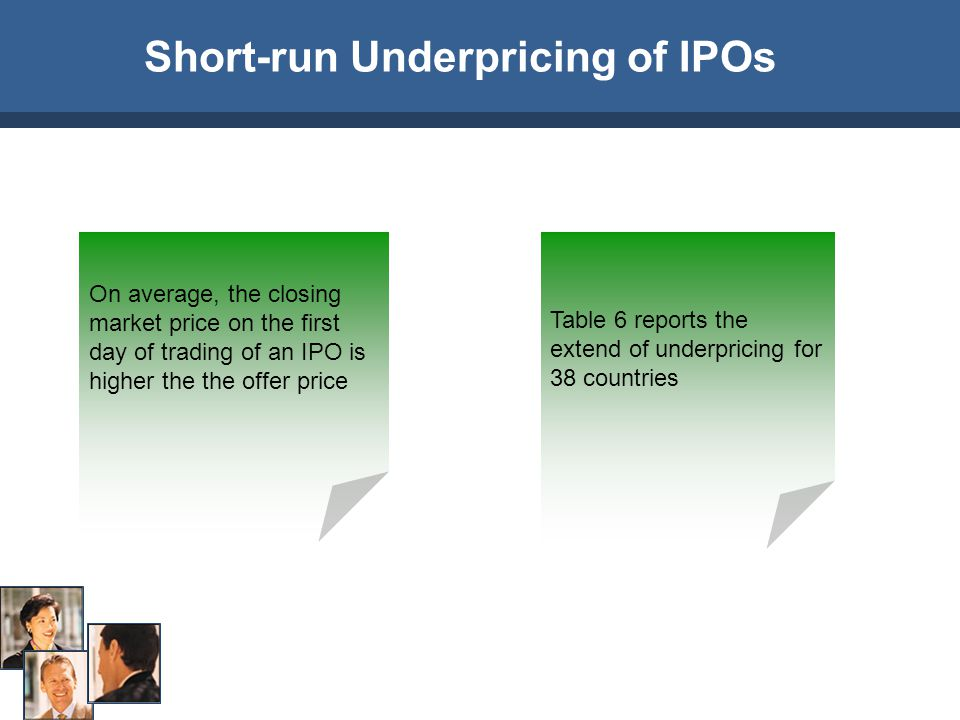 Short-run Underpricing of IPOs