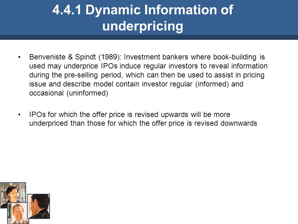 4.4.1 Dynamic Information of underpricing