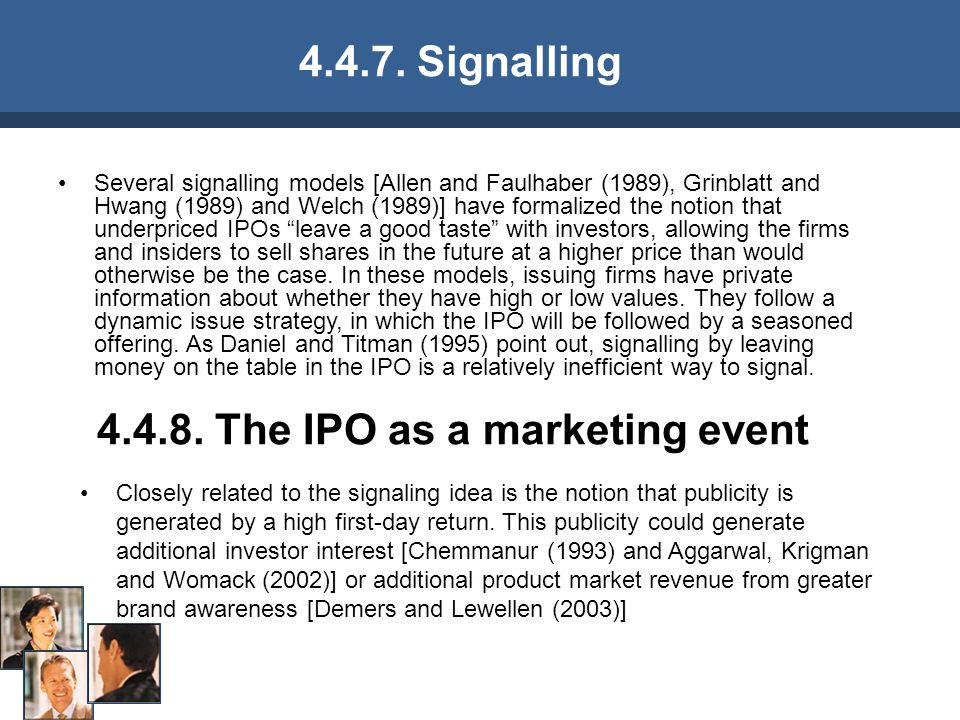 4.4.8. The IPO as a marketing event