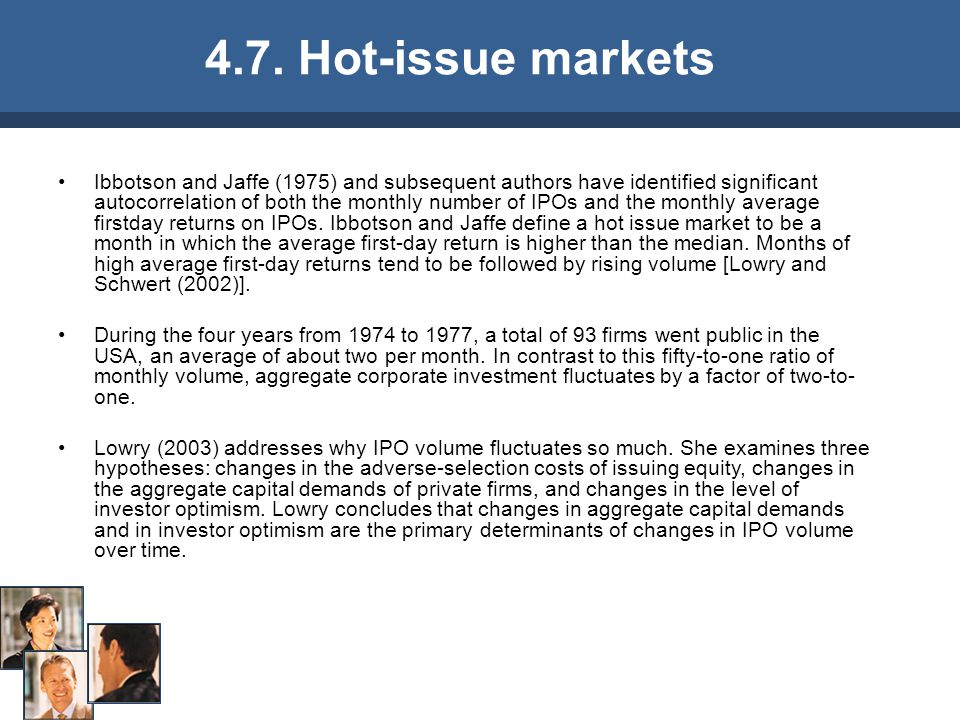 4.7. Hot-issue markets