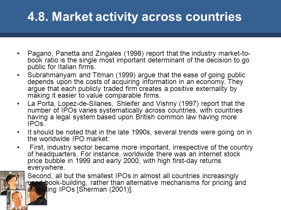 4.8. Market activity across countries