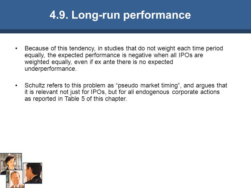 4.9. Long-run performance