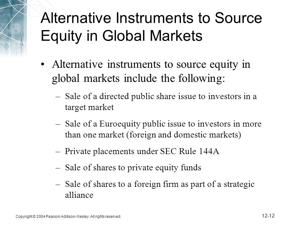 Alternative Instruments to Source Equity in Global Markets