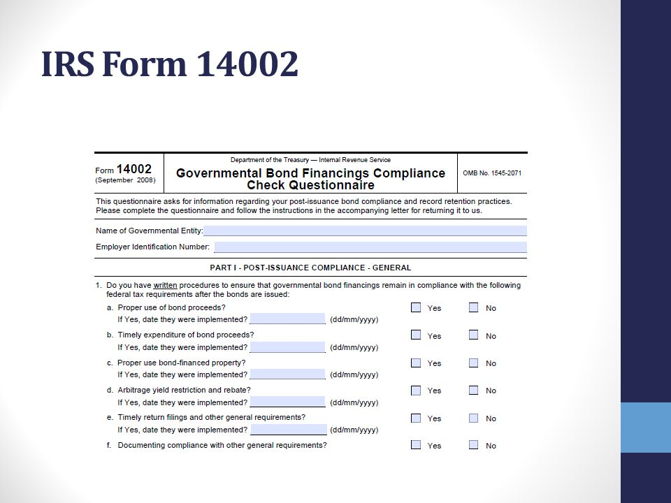IRS Form 14002 Tempe approach: