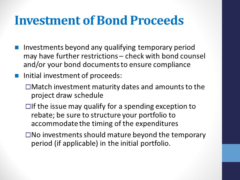 Investment of Bond Proceeds