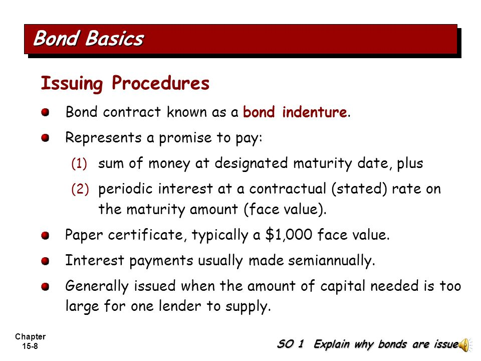 Bond Basics Issuing Procedures