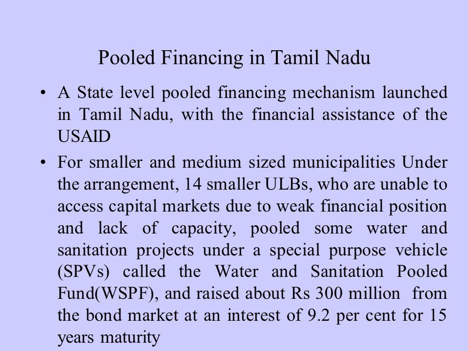 Pooled Financing in Tamil Nadu
