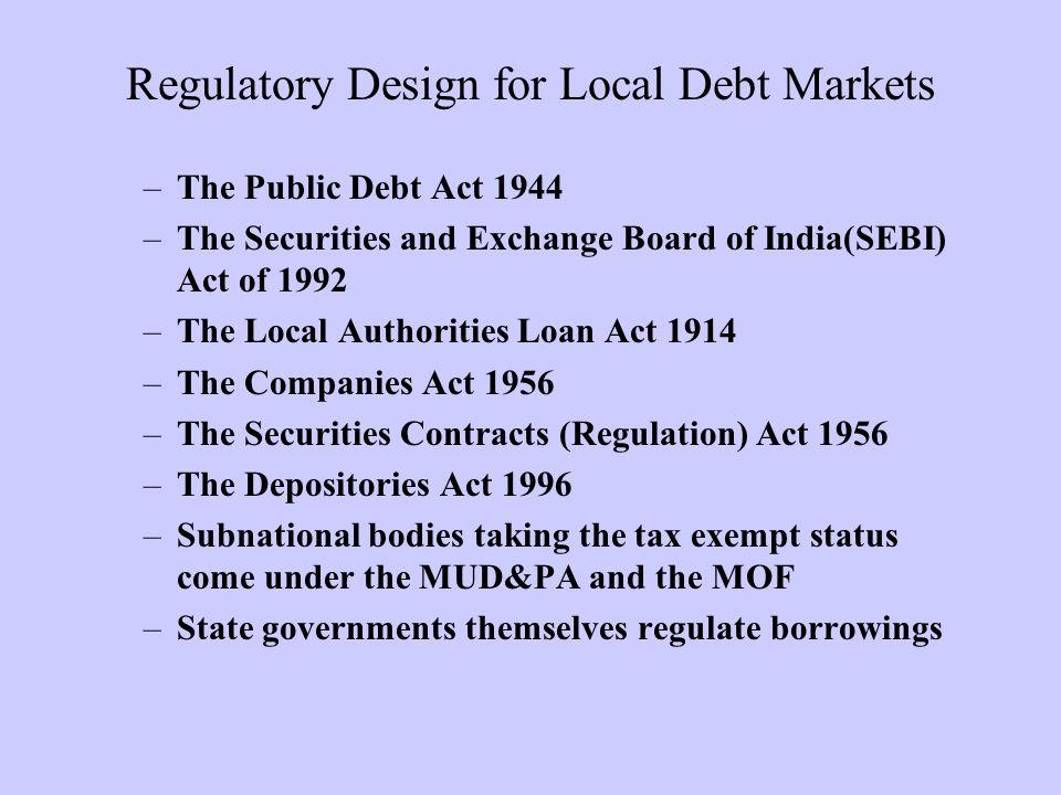 Regulatory Design for Local Debt Markets