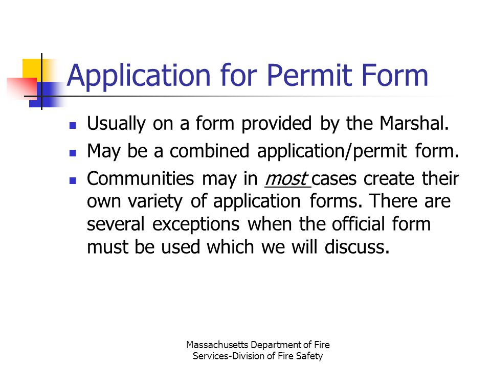 Application for Permit Form