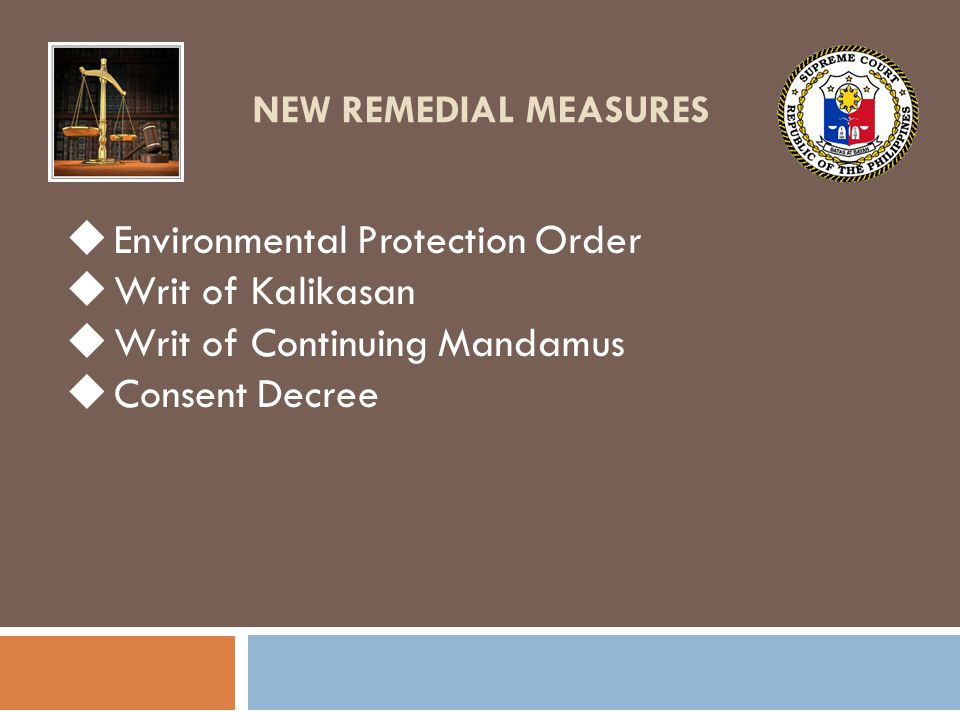 Environmental Protection Order Writ of Kalikasan