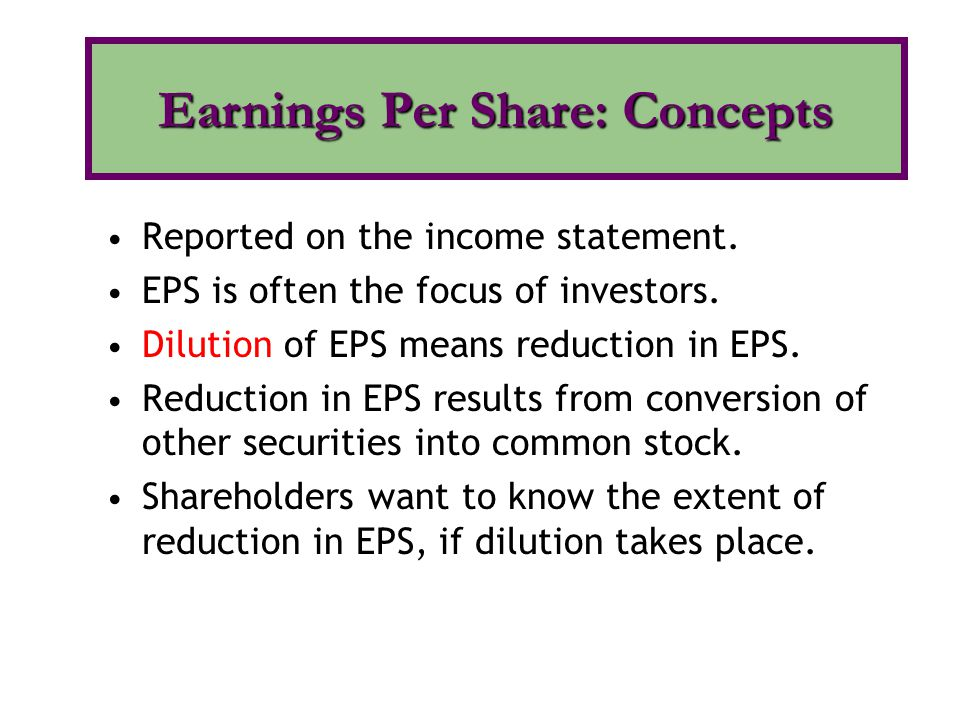 Earnings Per Share: Concepts