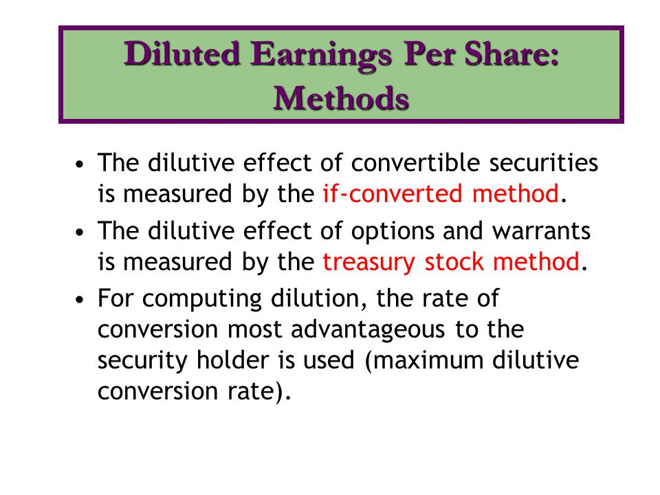 Diluted Earnings Per Share: Methods
